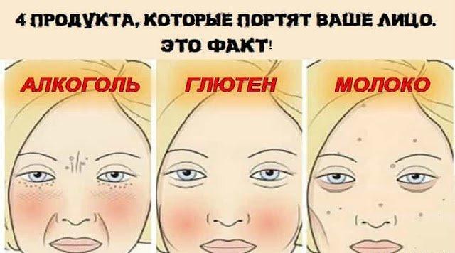 4 продукта, которые портят ваше лицо. Это факт
