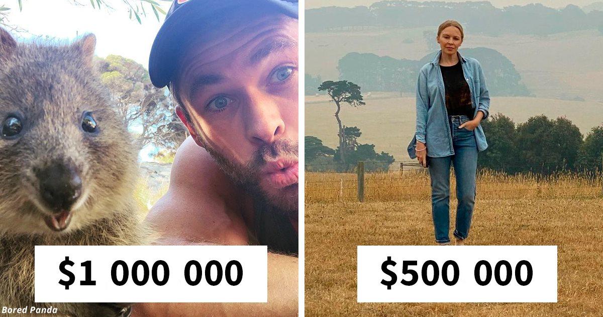16 звёзд, которые яхт не покупают, а на помощь Австралии дали миллионы