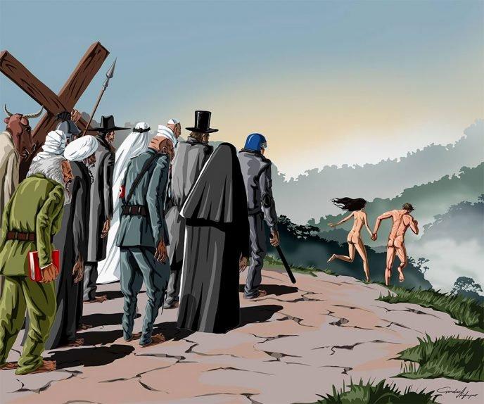 Гюндуз Агаев: Ужасающие проблемы современного мира в иллюстрациях азербайджанского художника