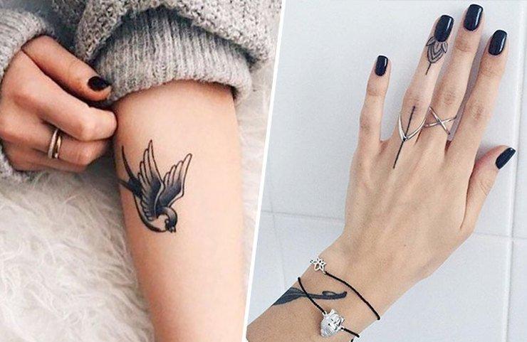 Cамые нежные женские татуировки