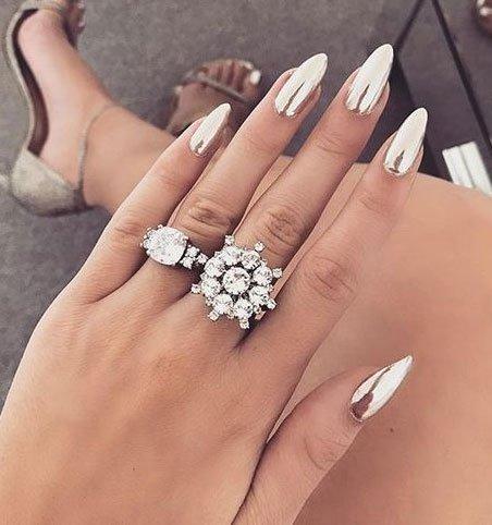 Модный дизайн острых ногтей 2019