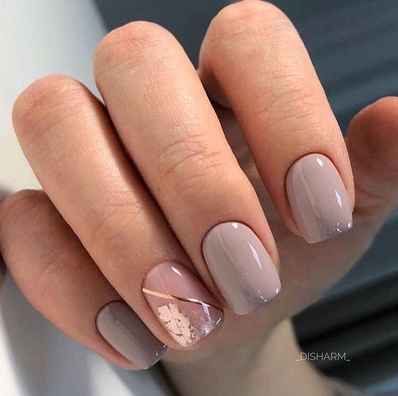 Красивый маникюр на квадратные ногти