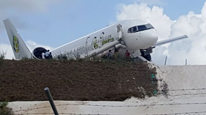 Guyana plane crash: Six injured on Fly Jamaica flight