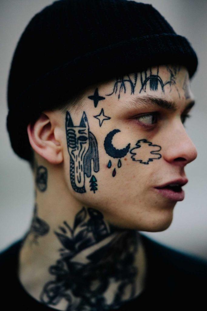 Татуировки на лице, на которые могут решится только самые смелые