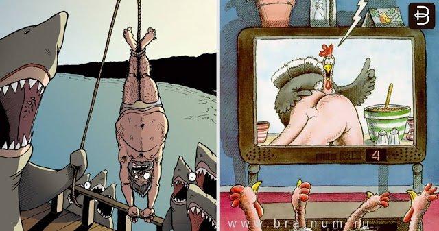 Эти иллюстрации показывают, что произошло бы, если бы животные доминировали над людьми