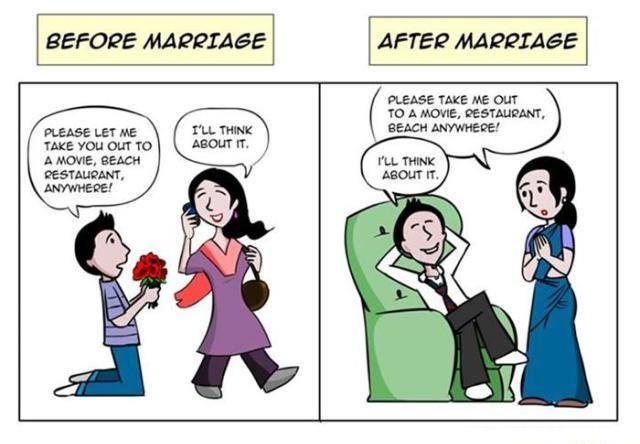 10+ прикольных картинок о жизни мужчин до и после женитьбы