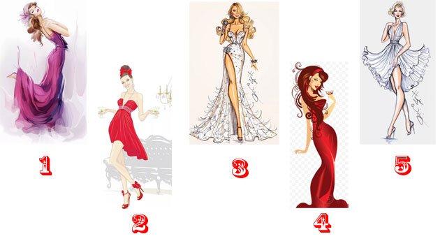 Выбранное гламурное платье расскажет в чем вы без платья-душой особенно хороши