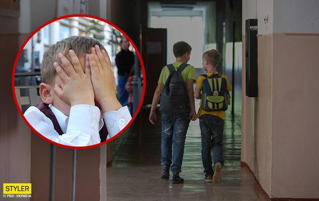 Под Одессой учительница избила ребенка ногами прямо на улице (видео)