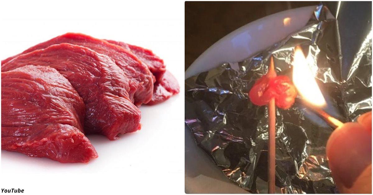Как за 30 секунд отличить натуральное мясо от мяса с химикатами