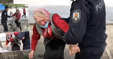 В Кишиневе полицейские жестоко обошлись со старушкой из-за пучка зелени
