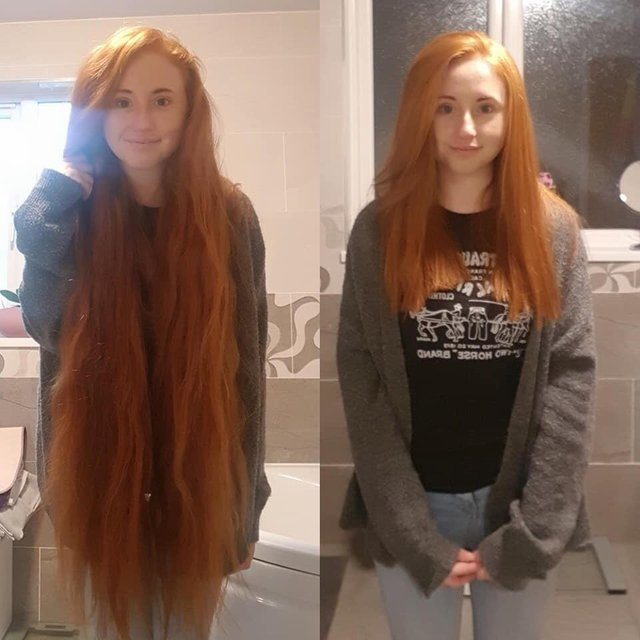 30 фото людей до и после того, как они пожертвовали свои волосы для детей, больных раком
