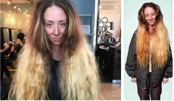 Девушка не стриглась 30 лет, стилист сделал из нее красотку. Фото