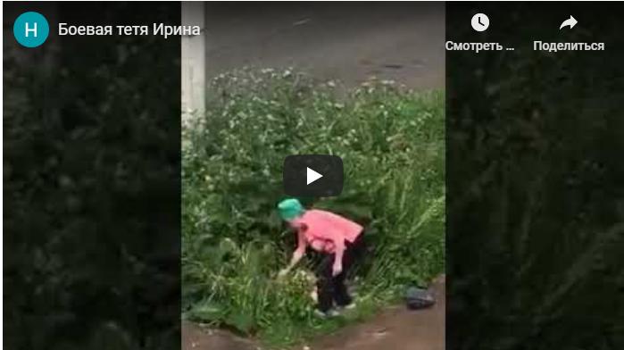 ПЕНСИОНЕРКА ИЗБИЛА ДОСКОЙ ЗАНИМАВШУЮСЯ SЕКСОМ В КУСТАХ ПАРОЧКУ. VIDEO