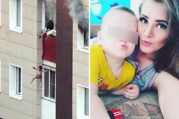 Мать выбросила детей с балкона, спасая от пожара