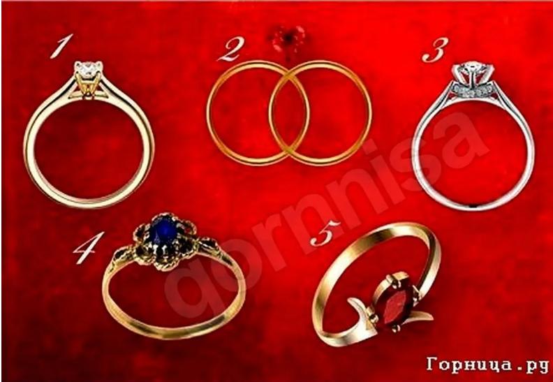 Женский тест на отношения – Выберите кольцо