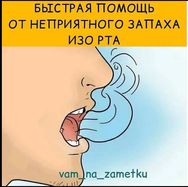 Быстрая помощь от неприятного запаха изо рта