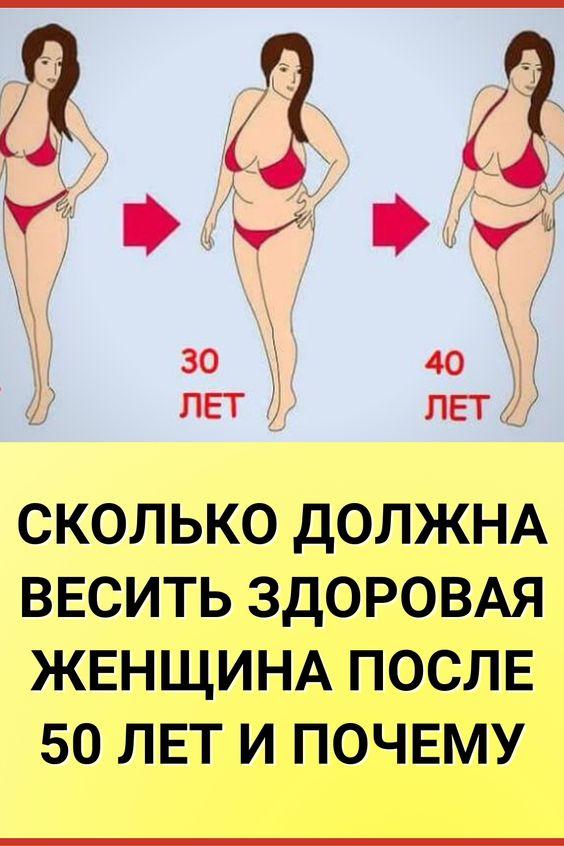 Сколько должна весить здоровая женщина после 50 лет и почему